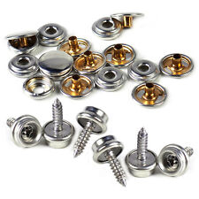 25xSilver Canvas Canopy Snap Stud Cap Boat Marine Cover Fastener Stainless Screw