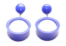 Time Travel /bleu De France Hoop Droplet Earings / Classic Signet Styled(Zx74)