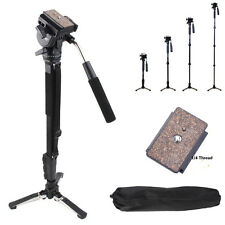 Yunteng C288 Pro Monopod + Fluid Pan Head Ball + DV Unipod Holder for Canon New