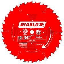 Freud D1024X Diablo 10-Inch 24-Tooth ATB Ripping Saw Blade with 5/8-Inch Arbo...