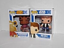Set Pop Funko Star Wars Bobble-Head Han Solo New # 03 BLUE Hammerhead # 37 Used