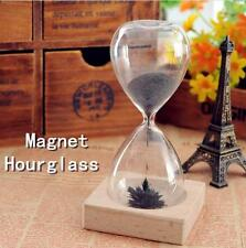 Magnetic Timer Sand Hourglass Desktop Hourglass Filled iron Filings Decoration Z