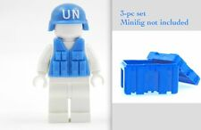 Exclusive United Nations UN Peacekeeper troop set : helmet , Vest & Container