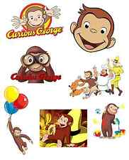 """Curious George Mini Iron On Transfers 2""""x3"""" approx for LIGHT Colored Fabric"""