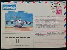 Russia - USSR Airmail Stationery Envelope 1989 Murmansk Cancel to Nottingham GB