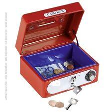 Coffret-caisse avec Serrure à combinaison Tirelire 14055 rouge goki - neuf