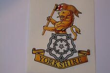 "2 X  YORKSHIRE REGIMENT  STICKERS  4"" BRITISH ARMY USA  MILITARY INSIGNIA"