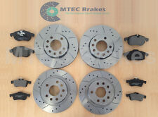 VECTRA C 1.8 DRILLED GROOVED BRAKE DISCS Front Rear & Pads