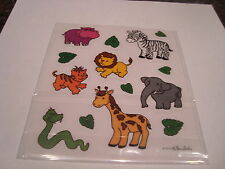 CUTE ZOO ANIMAL ASSORTMENT stickers/Great for Borders!