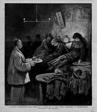 SCENE IN AN OPIUM DEN IN PELL STREET FREQUENTED BY WORKING GIRLS SMOKING PIPE