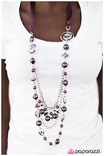 NEW Paparazzi Fashion Jewelry Necklace & Earring Set/All The Trimmings Purple