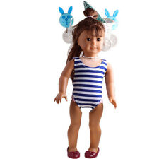 new stripe model clothes Swimwear for 18inch American girl doll summer b486