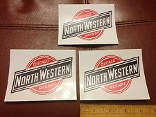 Railroad Decals (3) -CHICAGO NORTHWESTERN RAILWAY (CNW)- free shipping from USA
