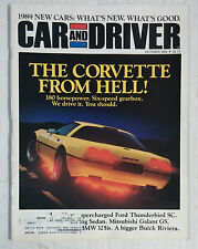 CAR AND DRIVER MAGAZINE 1988 OCTOBER CORVETTE BMW 325IS THUNDERBIRD
