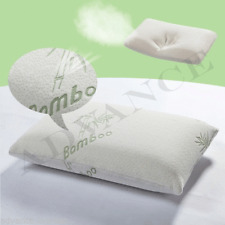 Pack of 4 Contour Memory Foam Pillow Bamboo Firm Head Neck Support Orthopaedic