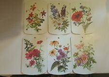 Flower Wall Plaques Set of 6 Colorful Vintage Ricolor Melamine Plates W. Germany