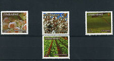 Zimbabwe 2014 MNH Main Export Crops 4v Set Flowers Roses Cotton Tea Tobacco