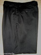 Mens Black SAVANE Pleated Dress Pants 36 x 29