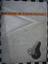 rare manuel de bord CITROEN ID 19 1959 / notice d'entretien