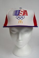 Vintage Retro 1984 Red Team USA McDonalds Olympics Mesh Trucker Hat Baseball Cap