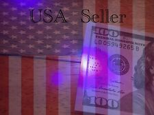 Five UV Black Light LED Money Detectors Keychain USA Seller Fast Free Shipping