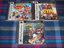 PS1 Crash Bandicoot Collector's Edition Crash Bash - Warped & Crash Team Racing