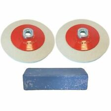 Angle Grinder Aluminium Metal Polishing Kit 3pc