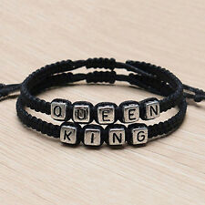 1 Pair Couple Braided Handmade King And Queen His Hers Bracelet Bangle Braw