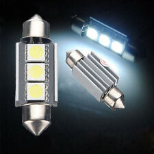 2X 36mm 3 LED 5050 SMD C5W 6418 CANBUS Error Free Dome Light Lamp Bulb 12V White