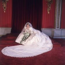 PRINCESS DIANA WEDDING DRESS 8X10 GLOSSY PHOTO PICTURE