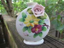 NORITAKE CUTE LITTLE ROUND BUD VASE OCCUPIED JAPAN RARE EXCELLENT CONDITION