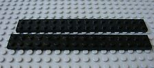 LEGO Black 2 x 16 Plate Lot of Two as Shown