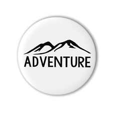Adventure 25mm 1 Inch Button Badge Travel Mountains Pin Holiday Loot Party Bag