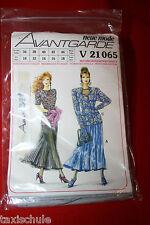 80er Jahre neue Mode Schnittmuster Gala Abend Kleid Gr. 36 - 44 Vintage Nähen