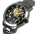 Automatic Classic Skeleton Men's Mechanical Stainless Steel Wrist Watch Hoc