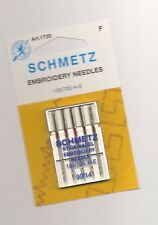 LOT OF 5 SCHMETZ S EMBROIDERY NEEDLES 130/705 H-E 90/14 1720 NEW