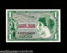 UNITED STATES USA 1 DOLLAR 651 RIFLE SOLDIER MPC UNC MILITARY PAYMENT MONEY NOTE