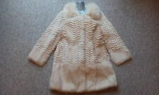 J31new design 100% real fox fur +  rabbit  fur coat full pelt