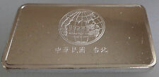 Silver Ingot Mint Condition 40 grms Minted by John Pinches Bank China Taiwan