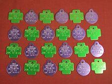 Lot of 24 Dog Tax Tag License Allegan County Michigan MI 2012 2013 Key ID Tag