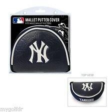 New York Yankees MLB Licensed Mallet Putter Golf Club Headcover, Embroidered