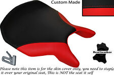 DESIGN 2 RED & BLACK CUSTOM FITS DUCATI 999 749 RIDER LEATHER SEAT COVER