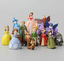 Cute 12pcs Sofia the First Princess Figurines Sophia Cake Topper Figures Gift