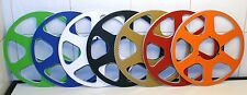 "2 x REEL TO REEL CARBON FIBER 6 SPOKE 10.5"" X 1/4"" NAB HUBS 7 colour choice"