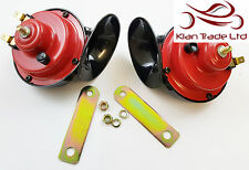 ROYAL ENFIELD 12V LOUD DUAL TONE TWIN SNAIL AIR HORN QUALITY PAIR MOTORCYCLE