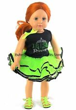 Irish Princess Tutu Skirt Set Doll Clothes Made For 18 in American Girl Dolls