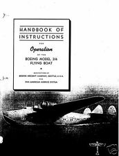 Boeing 314 Clipper B-314 HISTORIC FLYING BOAT OPERATIONS HANDBOOK MANUAL RARE