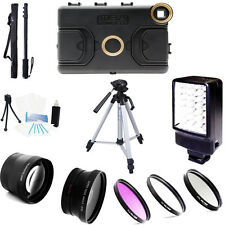 Melamount Case 37mm HD 2.0x conveter and wide angle Lens, ... kit for iPad Mini