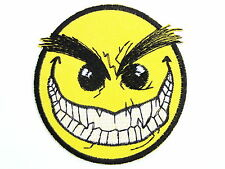 "Evil Vampire Halloween Smiley Fun Iron On Embroidered Badge Patch 2.9""/7.4cm"