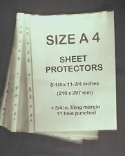 A4 Size Clear Plastic Sheet Protectors 25 ct. Used